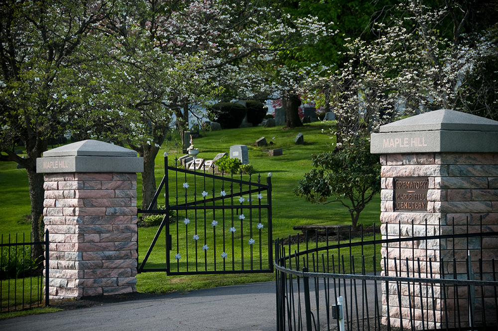 Maple Hill Cemetery gate entrance